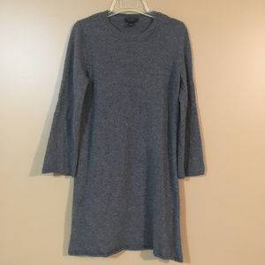 J. Crew Collection Italian Cashmere Gray Dress M